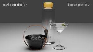 QwkDog Bauer Pottery Martini