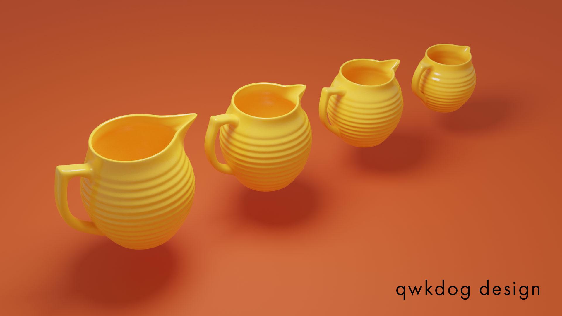 QwkDog Bauer Pottery Pitchers