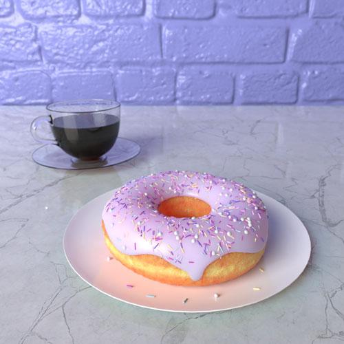 QwkDog Blender Donut