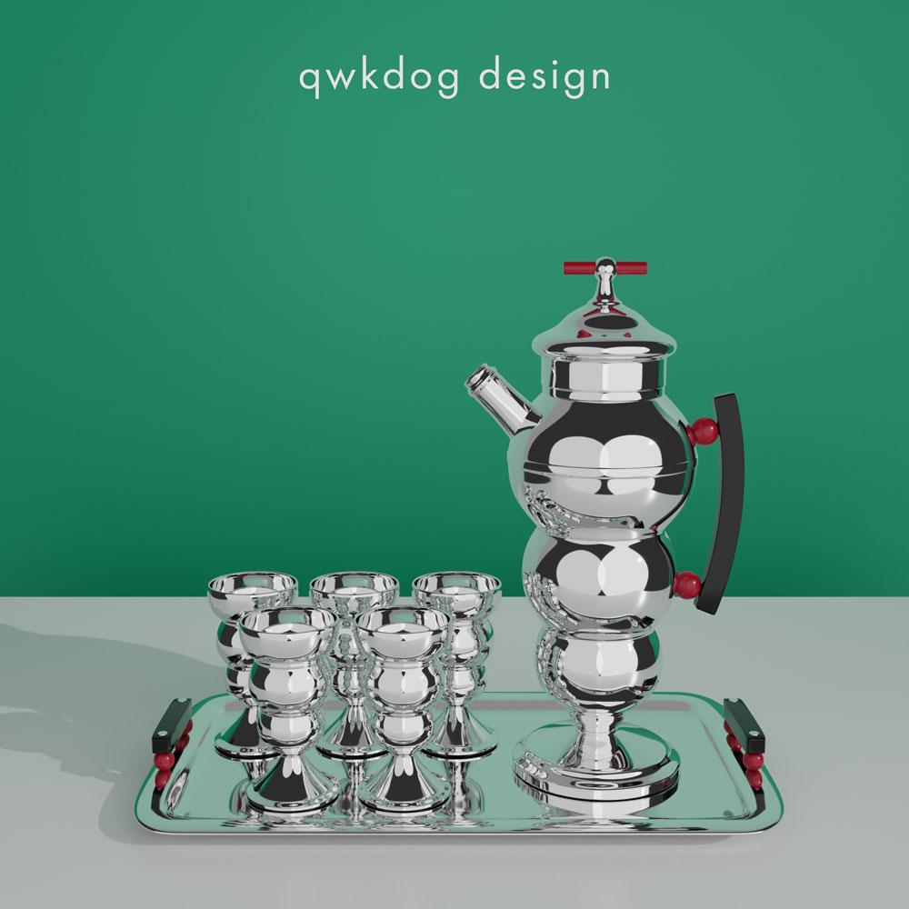 QwkDog 3D Art Deco Shaker - Farber Bros