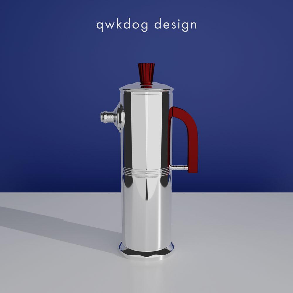 QwkDog 3D Art Deco Shaker