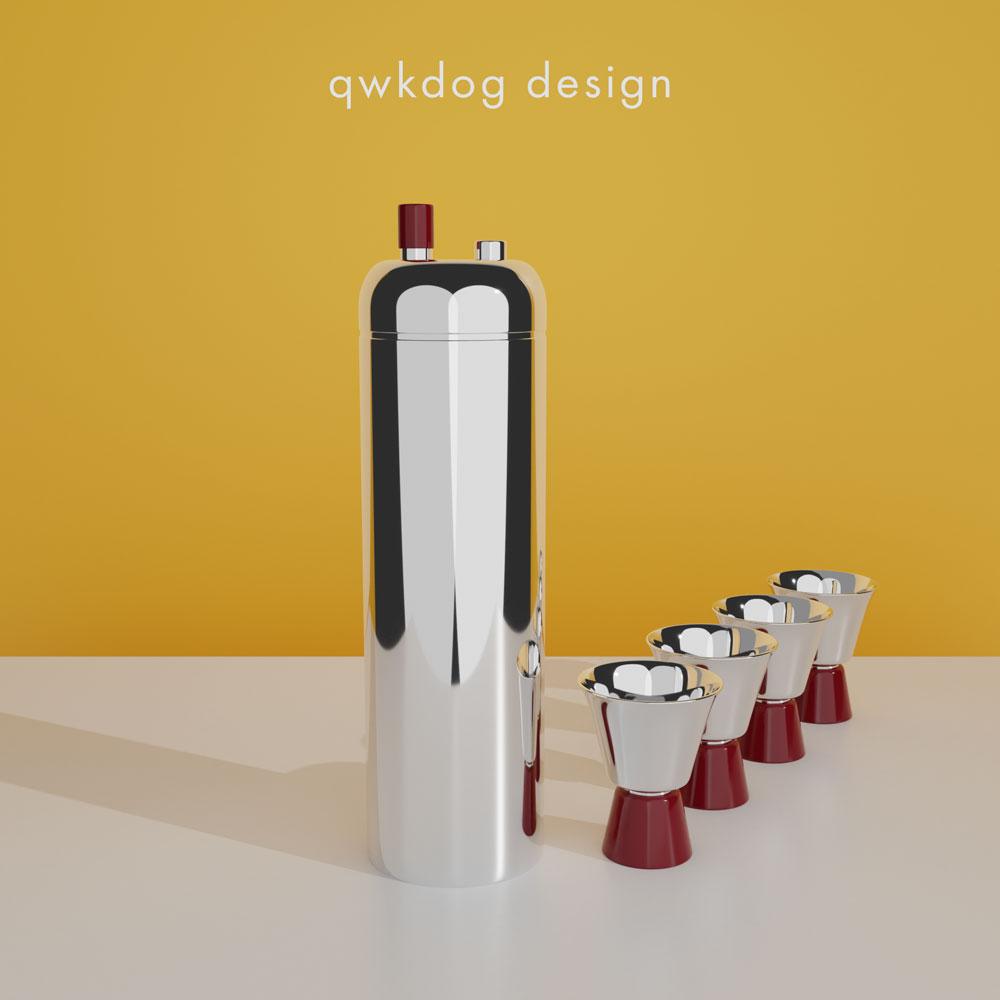 QwkDog 3D Art Deco Shaker - Revere Zephyr