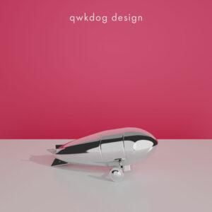 QwkDog 3D Art Deco Shaker - Zeppelin