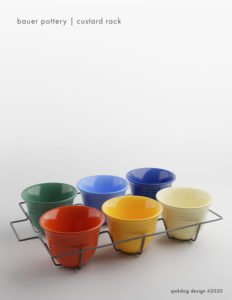QwkDog 3D Bauer Pottery Custard Rack
