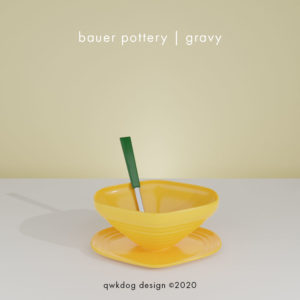 QwkDog 3D Bauer Pottery Gravy