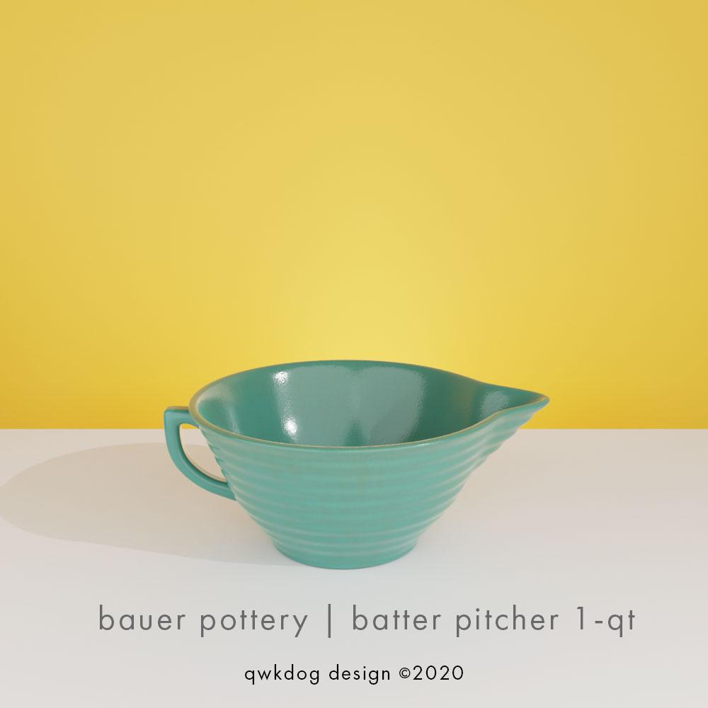 QwkDog 3D Bauer Pottery Batter Bowl