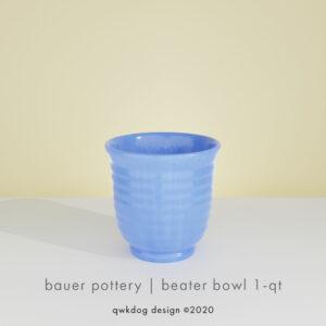 QwkDog 3D Bauer Pottery Beater Bowl
