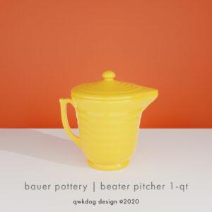 QwkDog 3D Bauer Pottery Beater Pitcher