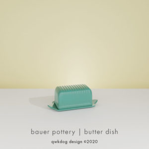 QwkDog 3D Bauer Pottery Butter Dish