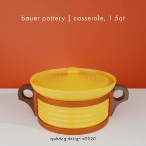 QwkDog 3D Bauer Pottery Casserole