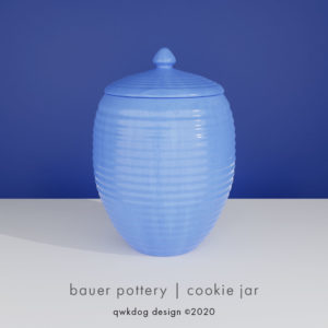 QwkDog 3D Bauer Pottery Cookie Jar