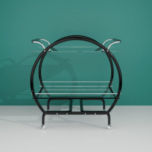 QwkDog Art Deco 3D Bar Cart