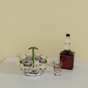 QwkDog Art Deco 3D Drink Caddy