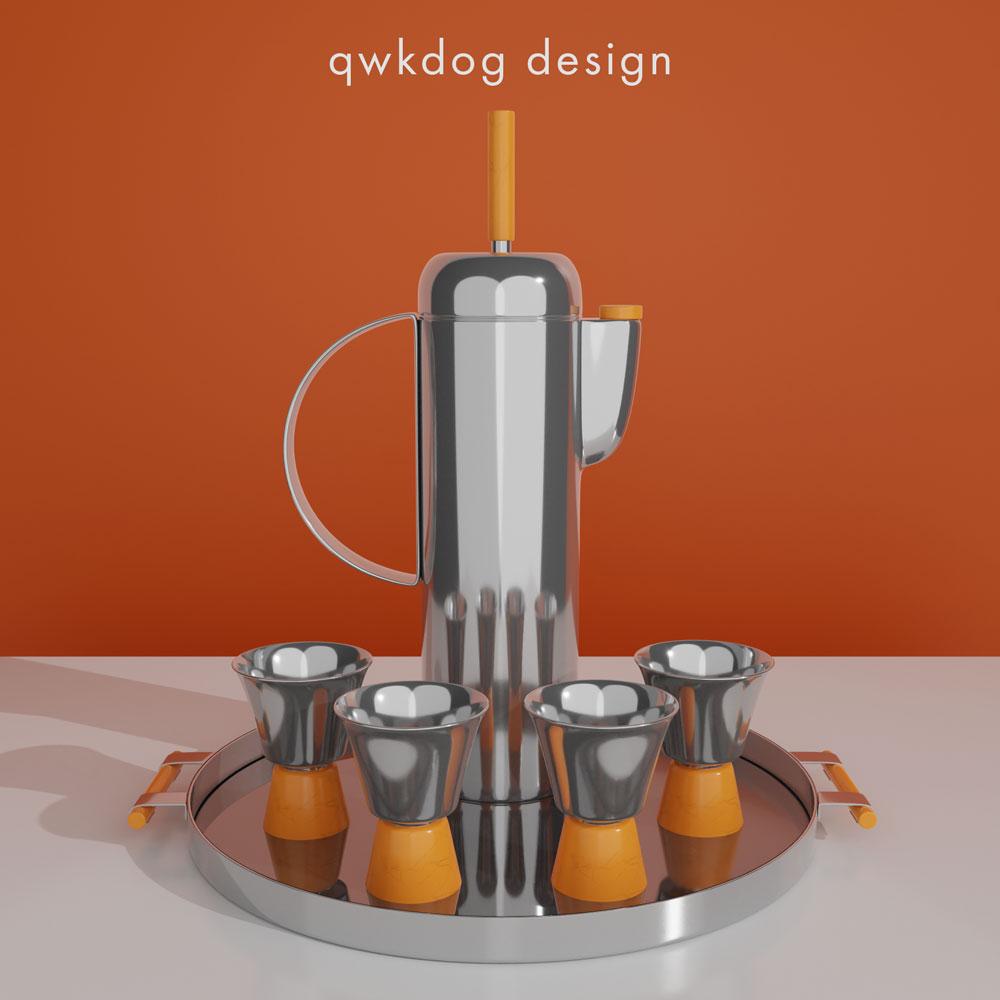 QwkDog 3D Art Deco Revere Shaker Set