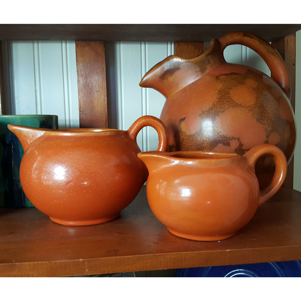 Pacific Pottery Hostessware 400 401 Pitchers Apache Red