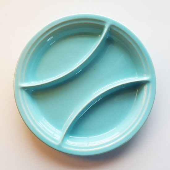 Pacific Pottery Hostessware 603 Relish Aqua