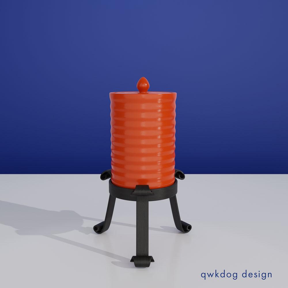 QwkDog 3D Bauer Pottery Cigarette Jar