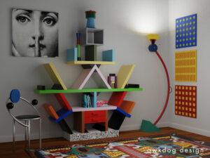 QwkDog 3D Memphis-Milano Carlton Scene