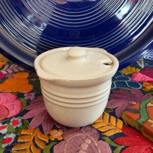 Pacific Pottery Hostessware 306 Condiment Jar White
