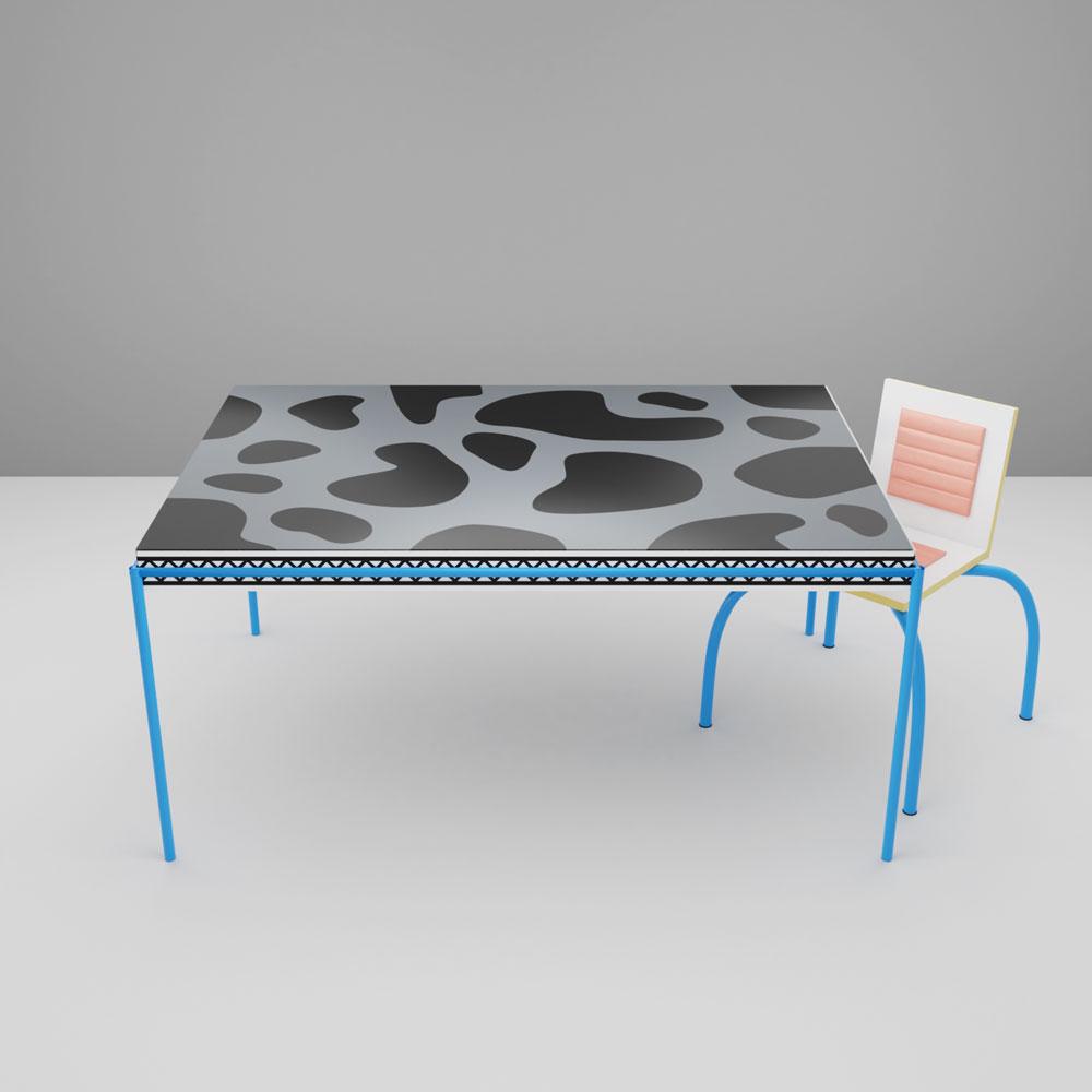 QwkDog 3D Memphis-Milano Di Lucci Burgundy Table
