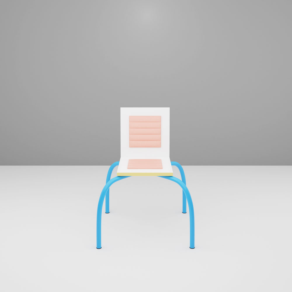 QwkDog 3D Memphis-Milano Di Lucci First Chair