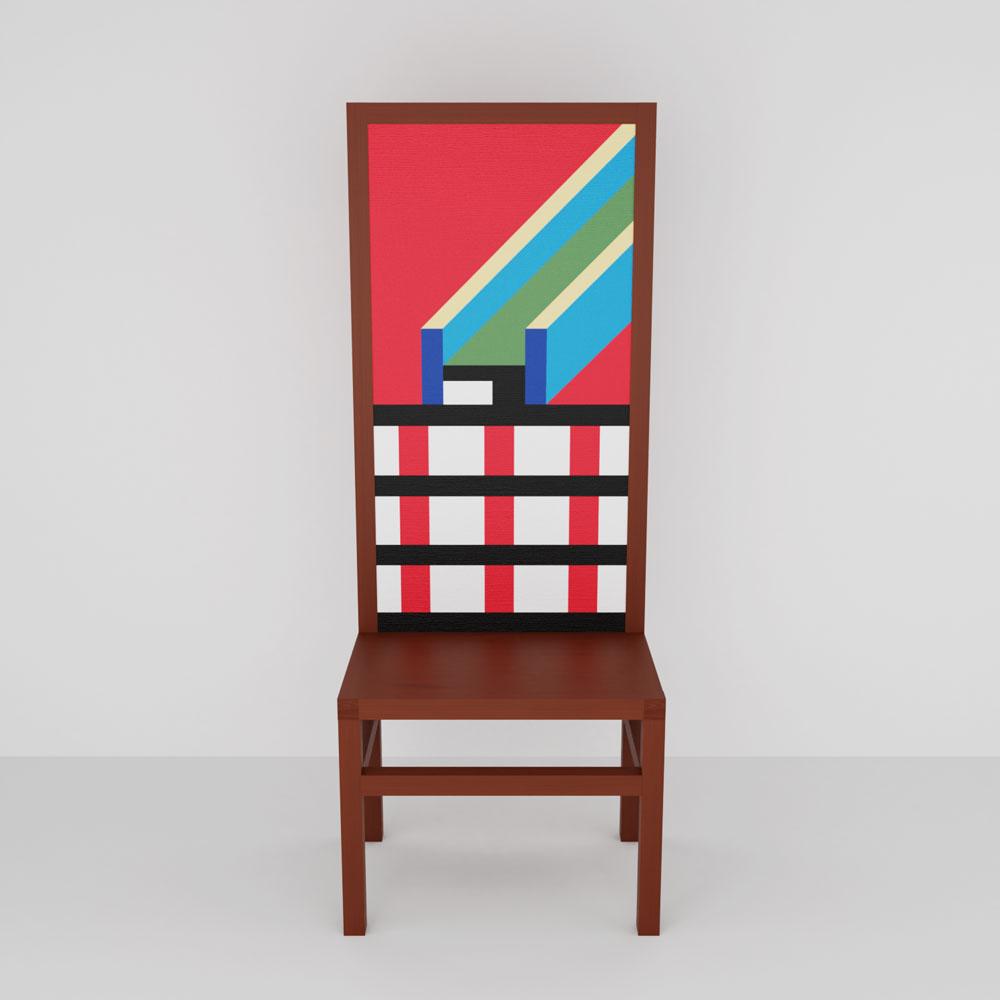QwkDog 3D Memphis-Milano Marmo Chair