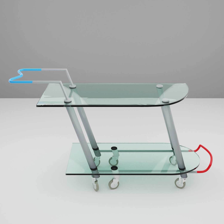 QwkDog 3D Memphis-Milano Mariscal Hilton Bar Cart