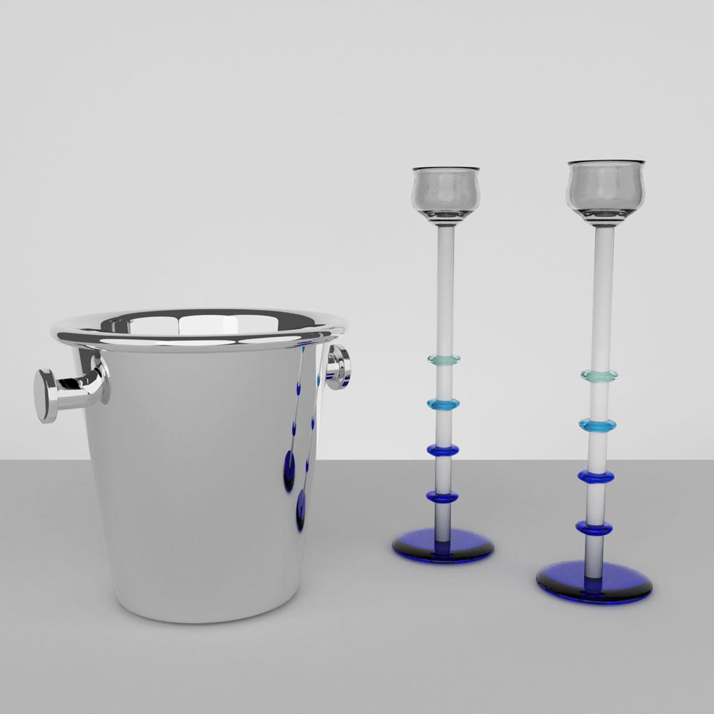 QwkDog 3D Memphis-Milano Barware