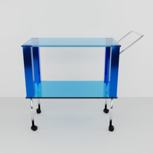 QwkDog 3D Memphis-Milano Manhattan Bar Cart