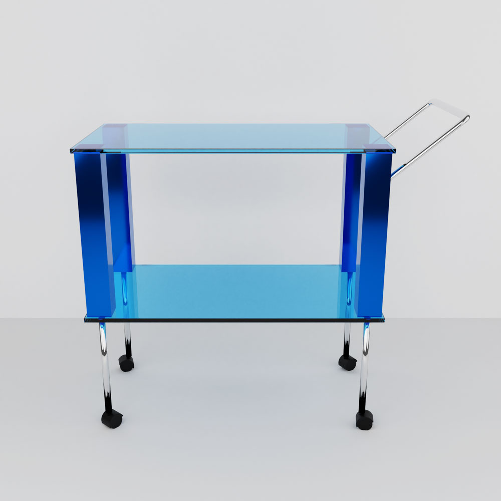 QwkDog 3D Memphis-Milano Manhattan Bar Cart