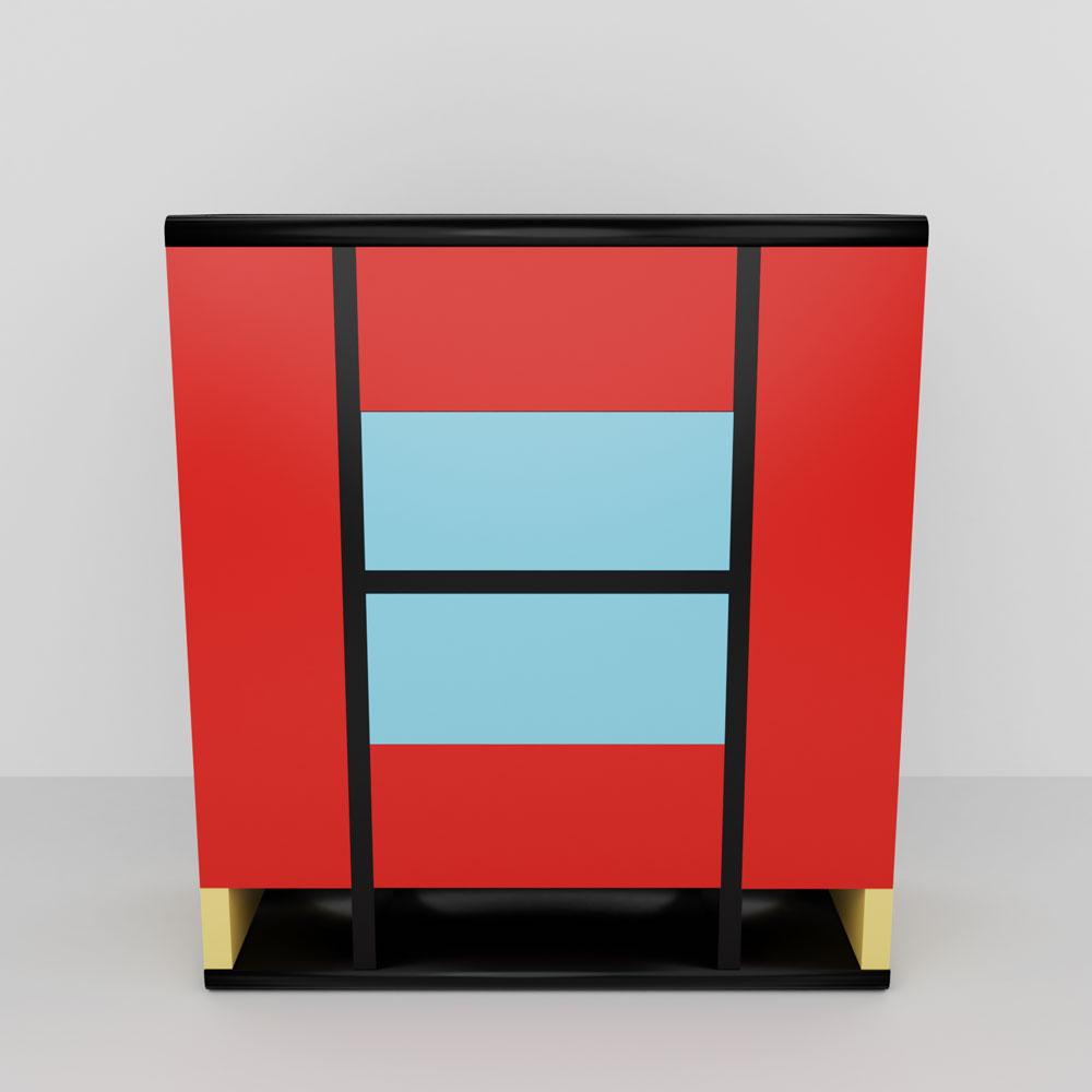QwkDog 3D Memphis-Milano Margherita Cabinet