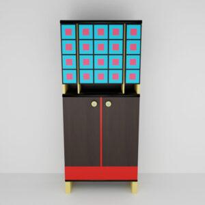 QwkDog 3D Memphis-Milano Narcisco Cabinet