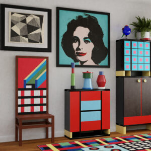 QwkDog 3D Memphis Milano Scene Warhol