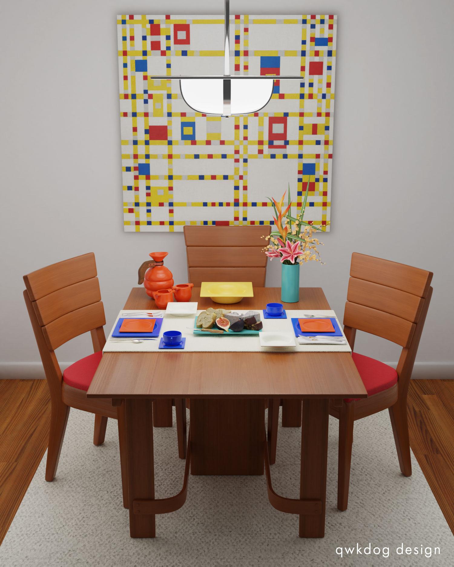 QwkDog 3D Metlox Pintoria Mondrian