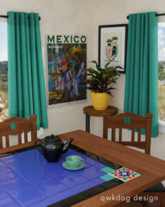 QwkDog Design 3D Monterey Table