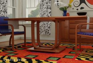 QwkDog 3D Heywood-Wakefield Rohde Scene - Table