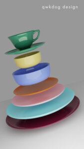 QwkDog 3D Padre Pottery Place Setting