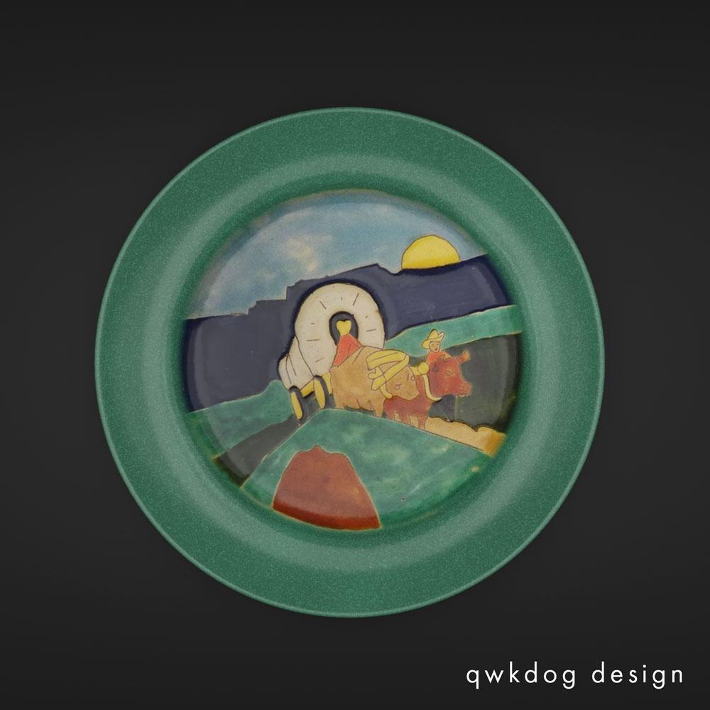 QwkDog 3D San Jose Pottery Covered Wagon