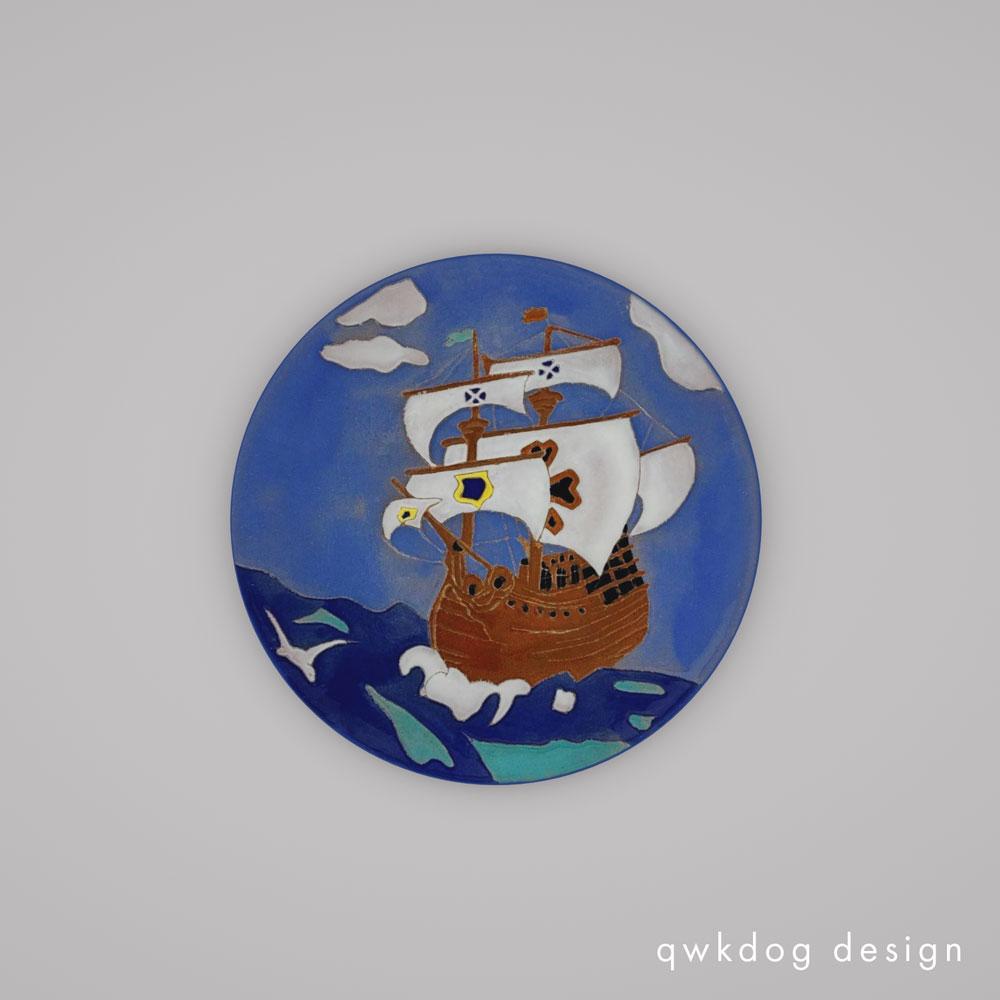 QwkDog 3D Catalina Pottery Galleon