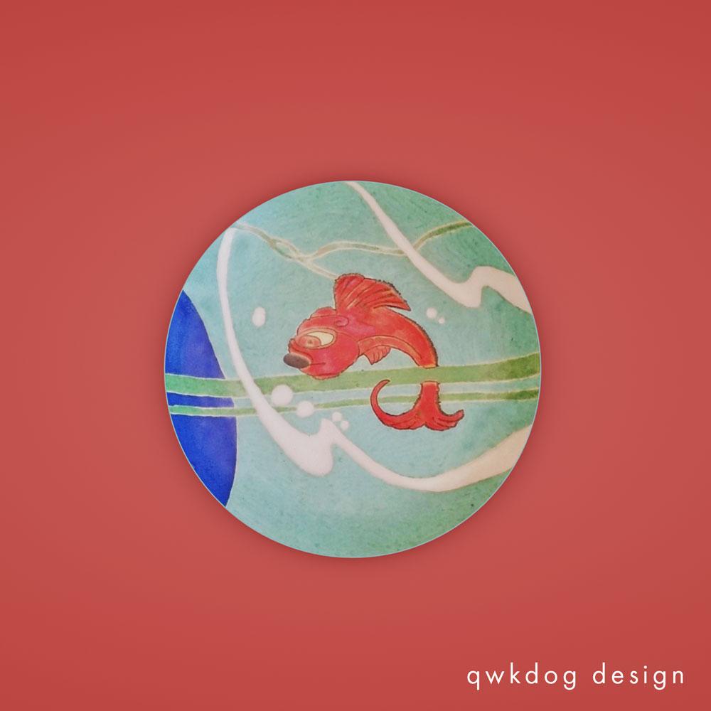 QwkDog 3D San Jose Pottery Red Fish