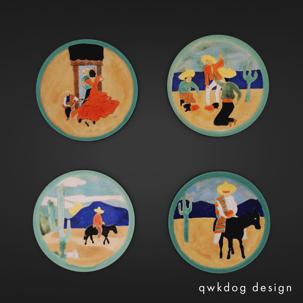 QwkDog 3D San Jose Pottery Plates