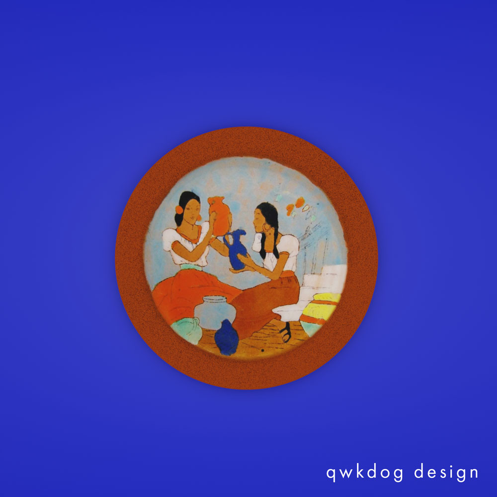 QwkDog 3D San Jose Pottery Women with Pottery