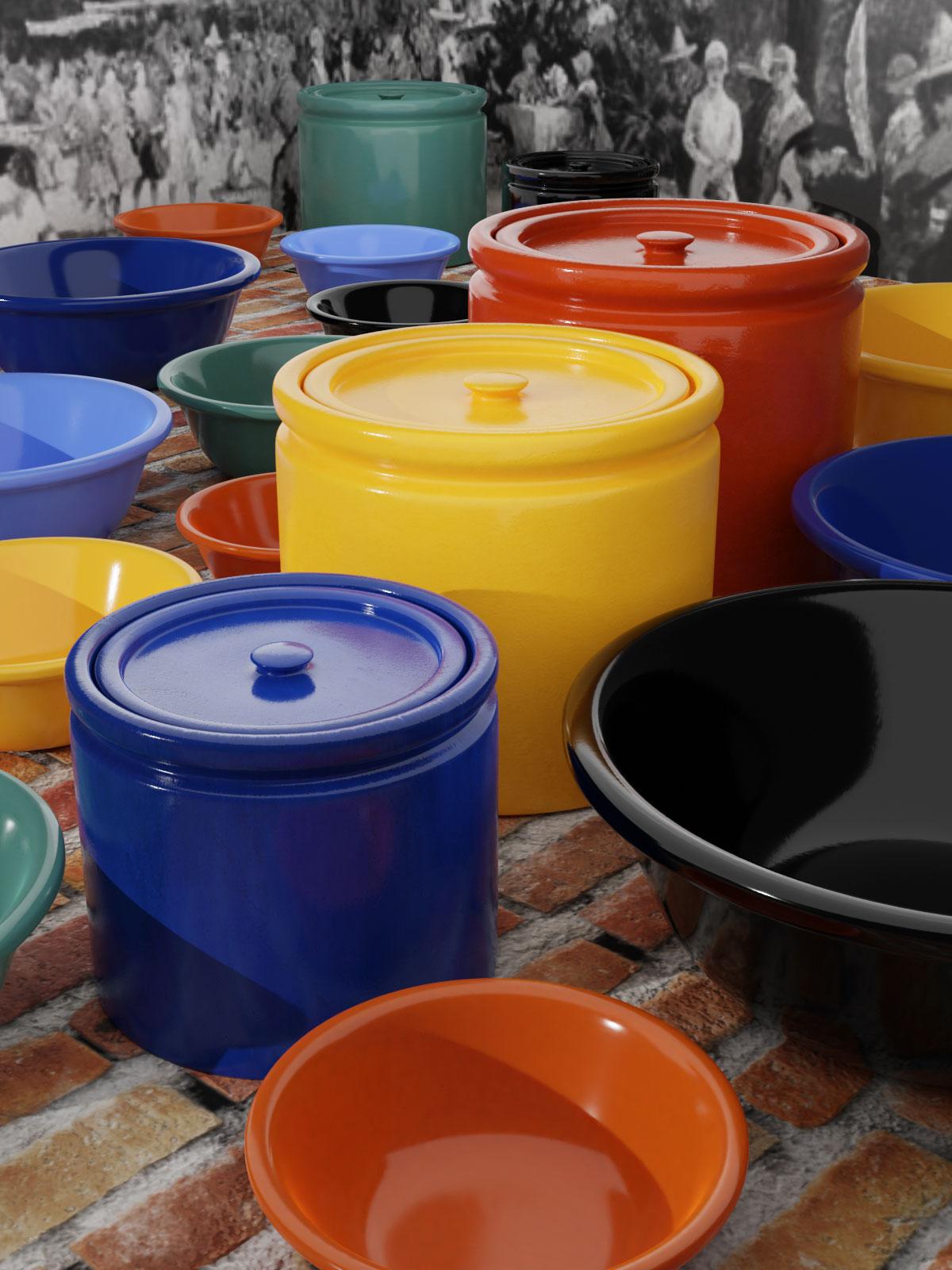 QwkDog 3D Bauer Pottery Plainware