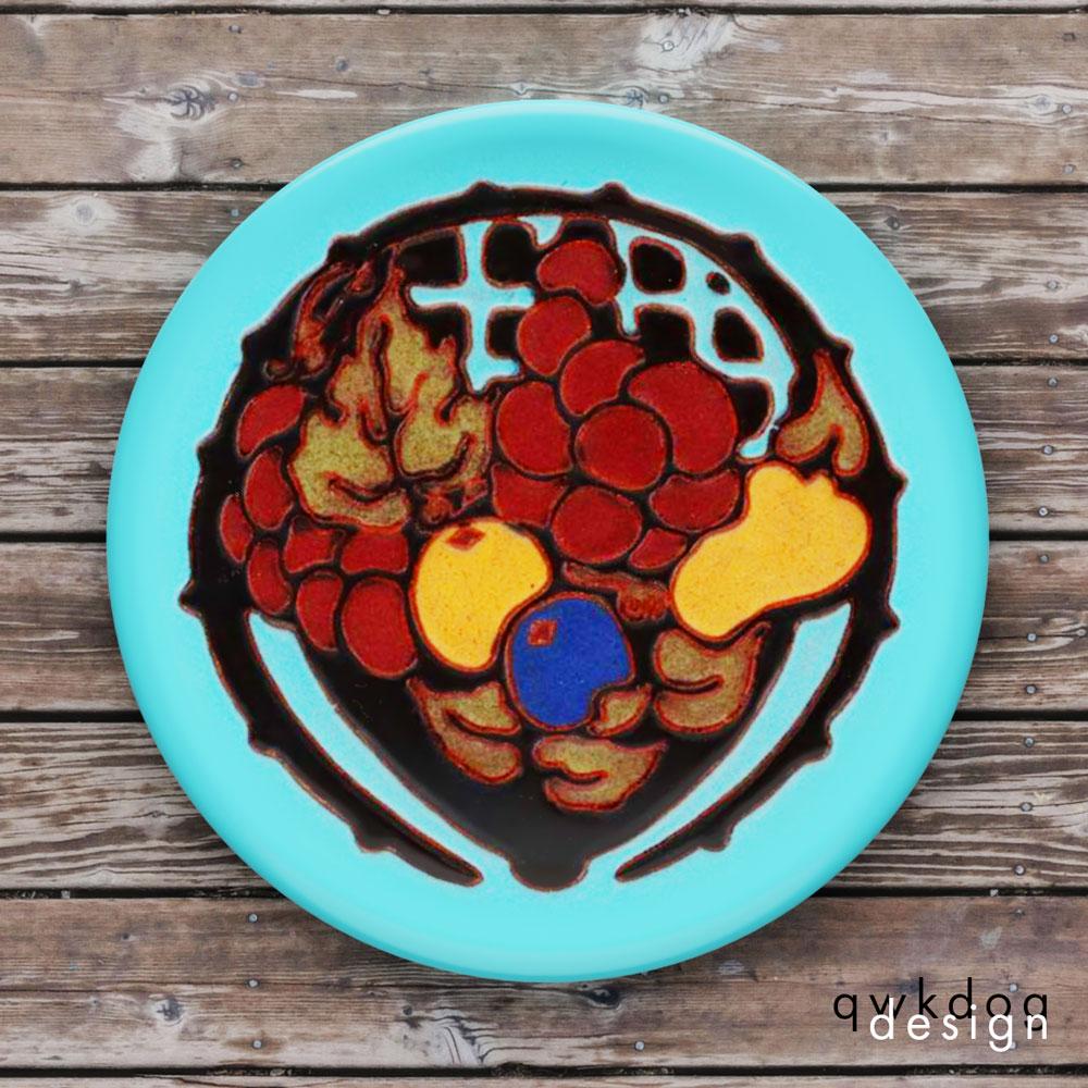 California Faience Tea Tile - Fruit Basket