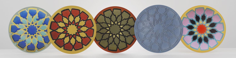 QwkDog 3D Catalina Island Pottery Moorish Plates