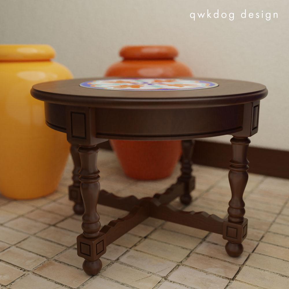 QwkDog 3D D&M Tile Table Pattern #2 - Side View