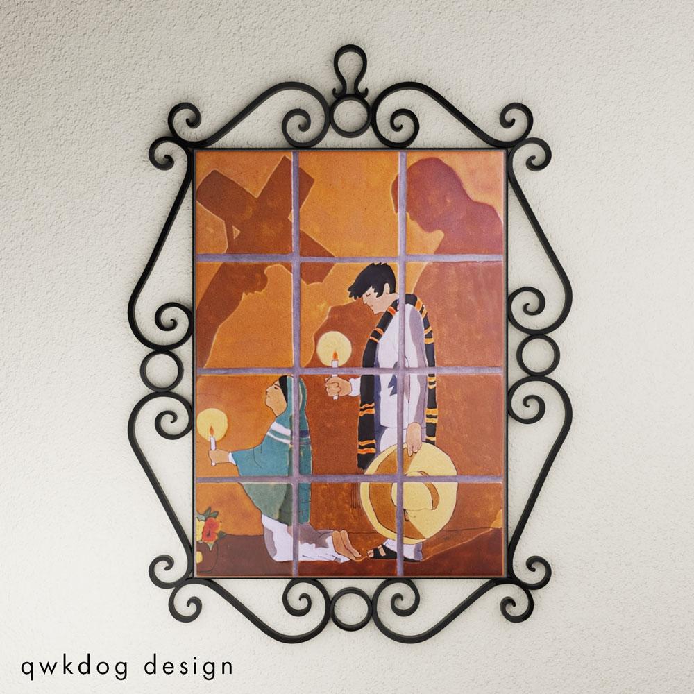 QwkDog 3D San Jose Pottery Tile Las Sombras