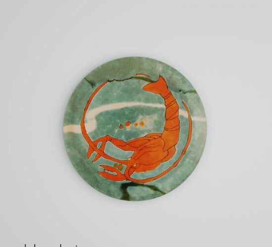 QwkDog 3D San Jose Mission Pottery Lobster Plate