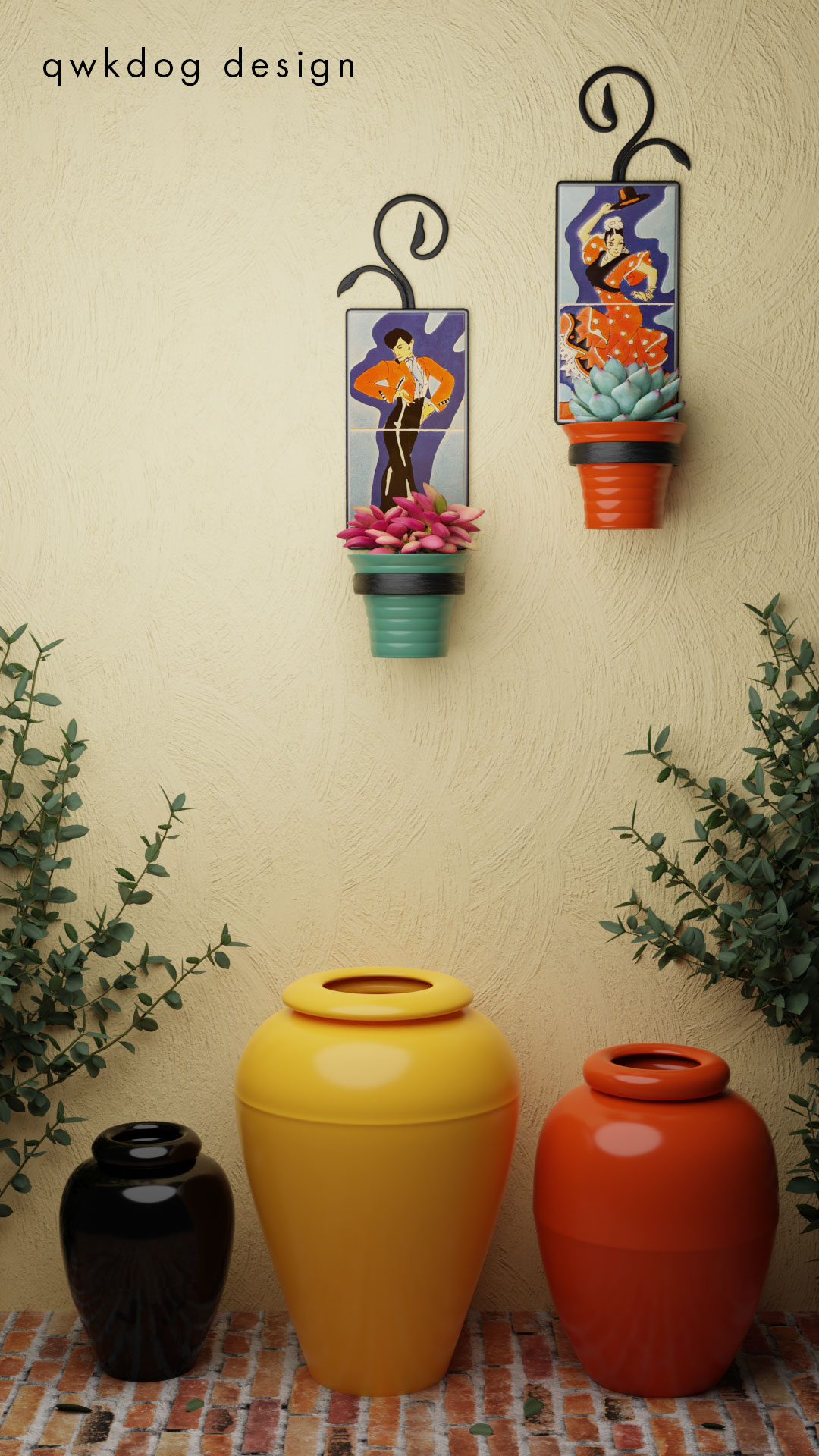 QwkDog 3D San Jose Pottery Tile