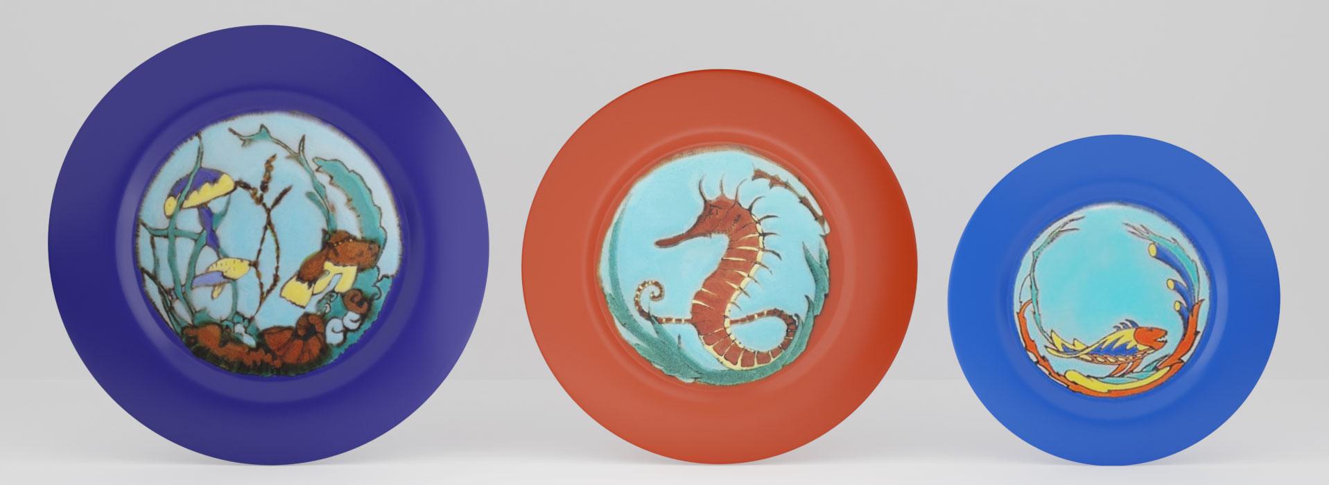 QwkDog Catalina Decorated Plates